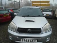 TOYOTA RAV 4 2.0 D-4D XT3 5dr CHOICE OF 2 RAV4 AVAILABLE 10 X 4X4S IN STOCK (silver) 2003