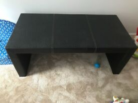 Genuine leather coffee table