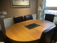 Solid wooden table 6 chairs