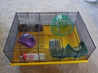 Hamster cage with Accessories! Bargain!