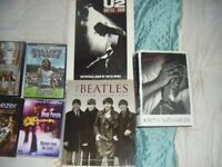 collection various rock music tapes, VHS tapes,dvd's books-generally VGC-close offers considered