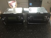 2 X Stereos CD/Radio factory fitted VW CD/Radio from Transporter