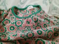 Green and Orange Floral top, Mini Club, 18-24 months