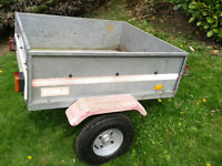 Car trailer (Erka) New wheels tyres and lightboard. Cash and collect Haughley near stowmarket.