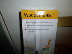 Oiled Beechwood Easel and 2 packs of 10 Canvass Blocks- New