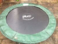 Large 8 foot Plum Trampoline with Enclosure