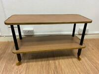 Mid century coffee table trolley