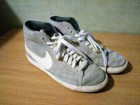 Nike Blazer Mid Suede Grey Size UK 9