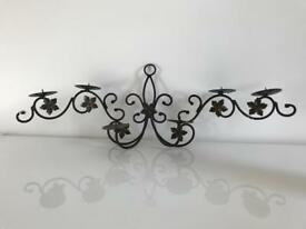 Forged Iron Candle Holder