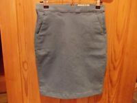 Jack Wills stretch pencil skirt, pale blue