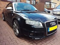 AUDI RS4 CABRIOLET 4.2L QUATTRO 2 DOOR 6 SPEED MANUAL- 36K GENUINE MILES - FULL SERVICE HISTORY