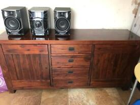 Tables and sideboard
