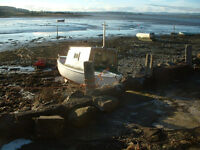 foot boat with cabin needs some TLC