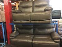NEW / EX DISPLAY Leather LazyBoy Washington 3 + 2 Electric Recliner Sofas