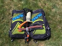 2 x Kitesurfing kites inc Bar and pump – 8m & 10.5m Liquid Force Envy 2014 – great condition - £825