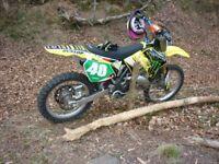 SUZUKI RM 125 2008 MOTOCROSS BIKE - Well Kept, Full DEP Racing Exhaust & More!!