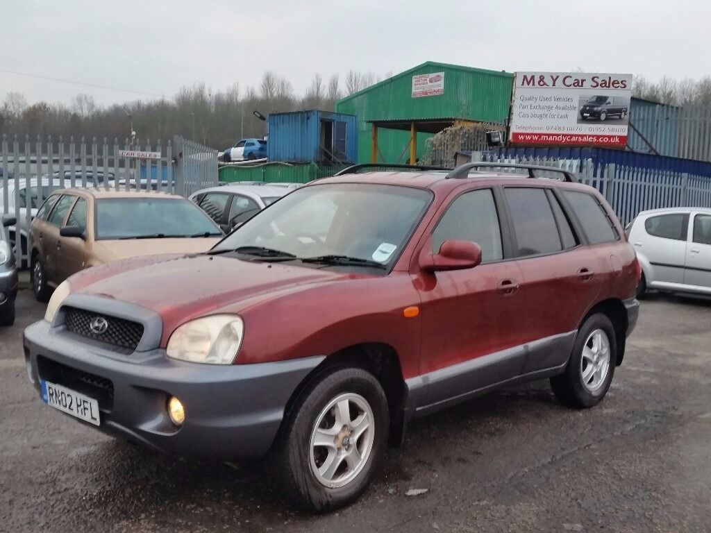 2002 02 reg hyundai santa fe 2 4 4x4 sw for 995 soldwith 12 months mot drives very well. Black Bedroom Furniture Sets. Home Design Ideas