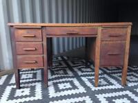 Vintage desk oak