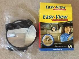 Easy view back seat mirror