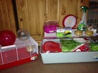 Ferplast hamster cage with large ferplast hamster run. With All accessories included.