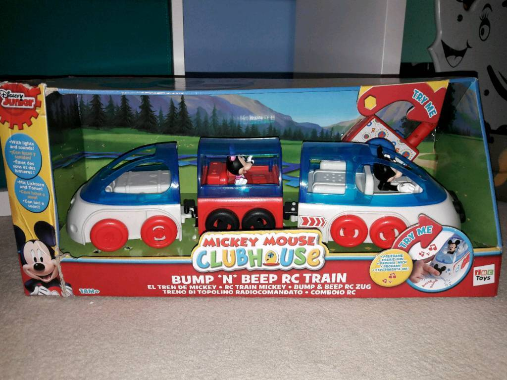 Mickey mouse remote control train brand new, box slightly damaged