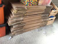 Cardboard boxes SOLD