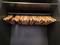 25 Wooden Hangers