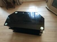 Medium size glass Tv stand
