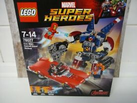 LEGO 76077 Marvel Super Heroes NEW SEALED Iron Man Agent Coulson Justin Hammer Detroit Steel Strikes
