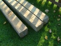 """150mmx150mmx3.0mtrs.(6""""x6""""x10ft, Approx). Pressure treated timber posts"""