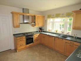 Solid maple wood kitchen. Plus Corian work tops / Neff appliances. Very good condition.