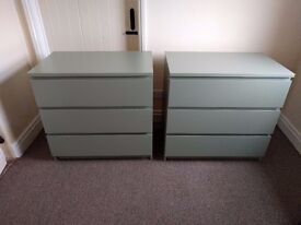Pair of Ikea Malm Drawers / Bedside Table **BRAND NEW** **UNUSED**