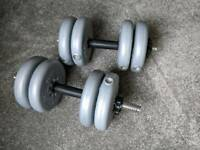 Vinyl York spinlock dumbbells