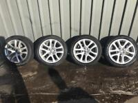 """VW 17"""" Alloys wheels and tyres"""