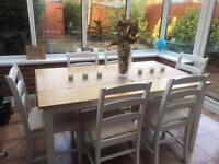 Dining Table + 6 Chairs (Oak Veneer) Argos: Hampstead Collection