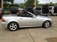 SWAINSTHORPE MOTOR CO 2003 MERCEDES SLK 200 KOMPRESSOR CONVERTIBLE 70K FULL MOT