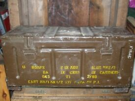 Old Military Metal Container