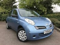 2006 (06) Nissan Micra 1.2 S 16v auto 56,000 MILES EXCELLENT CONDITION NEW MOT FSH SMALL AUTOMATIC