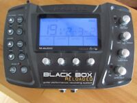 M-Audio Black Box Reloaded FX/drum machine/USB interface with pedal board & USB lead