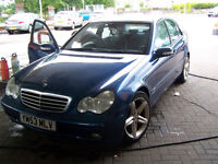53 plate late 2003 MERCEDES C220 CDI NEW MOT SERVICE RECORD PHONE KIT UPGRADED ALLOYS £1395