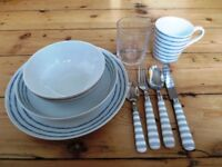 Plates + Glass + Cup + Cutlery