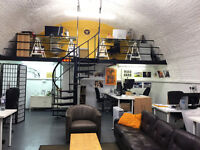 Creative desk spaces available at a great price