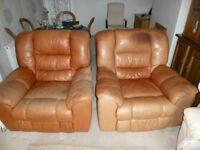 Leather Reclining armchairs