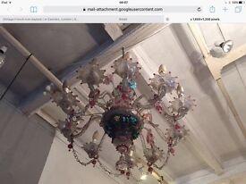 Murano venetian 1940s chandelier
