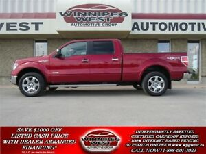 2013 Ford F-150 LARIAT CREW 4X4, LEATHER, ROOF, NAV, CAMERA!