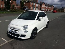 Fiat 500 S 2013/63 1.2 Petrol sports model alloys low mileage absolute bargain white cat d