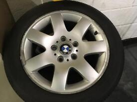 BMW tyre with rims