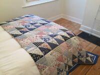 Ikea Alvine patchwork quilted bedspread
