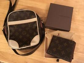 Louis Vuitton Wallet + Messenger Bag