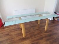 Extendable Glass Dining Table - sits 10 people!